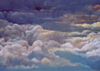 152x92 Oil on canvas - Clouds