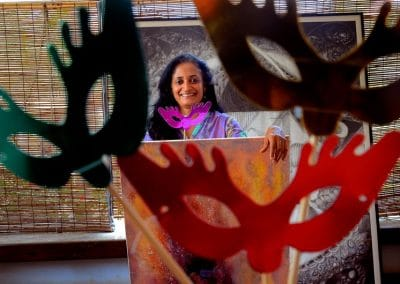 Painter Anuradha Nalapat. Express photo by Jithendra M.
